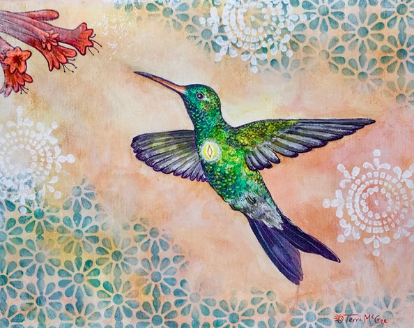 InnerLight Hummingbird3 8x10 canvas
