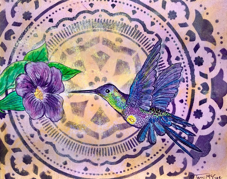 InnerLight Hummingbird6 8x10 canvas
