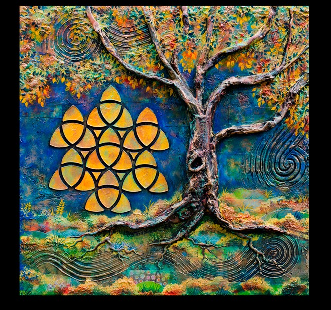 Mcgee Triquetra Tree Square